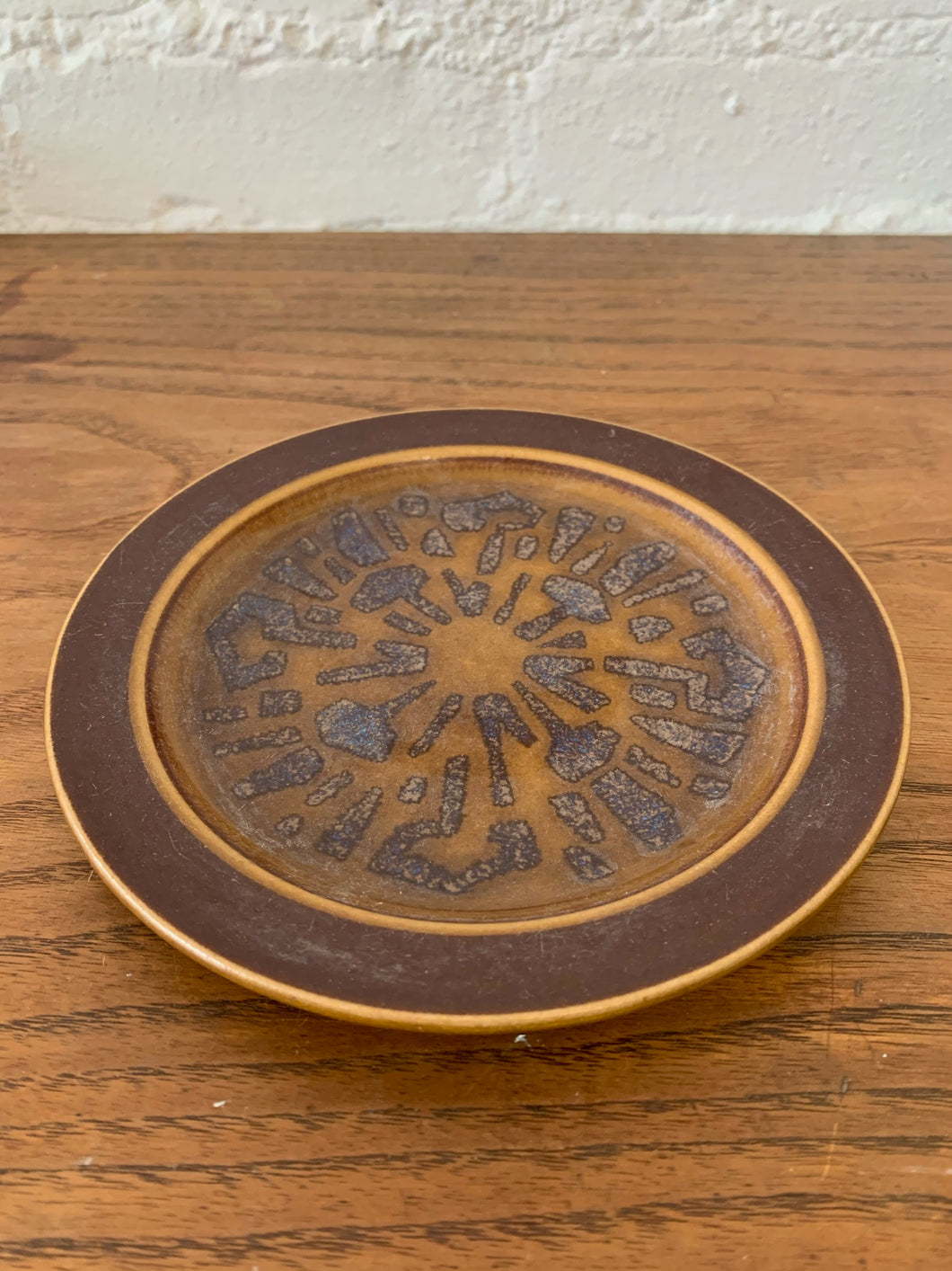 1960's Native Funky Brown Plate