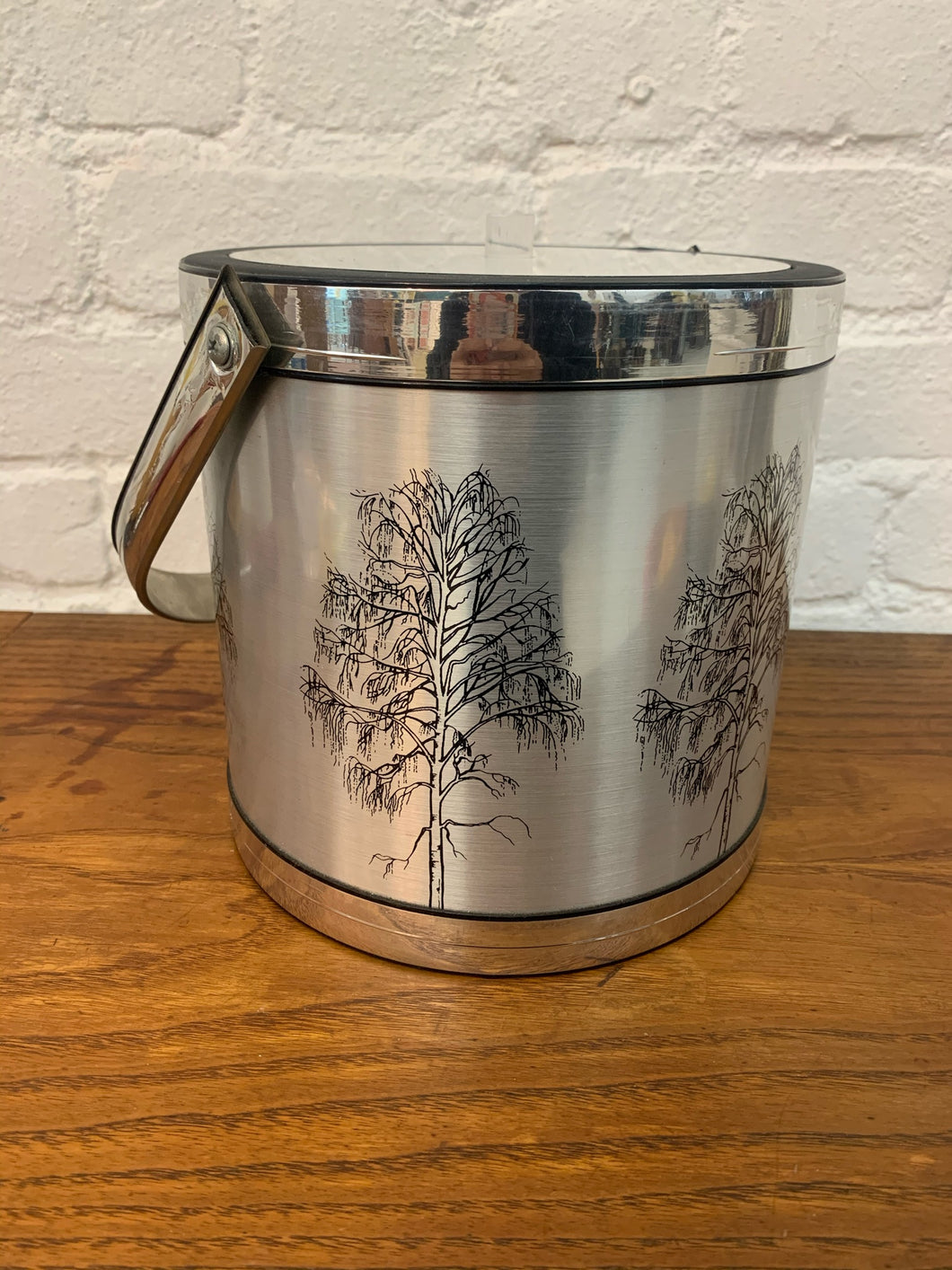 Gold and Silver Trees Ice Bucket