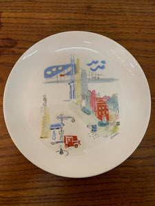 Hand Painted Signed Plate - Set of 2
