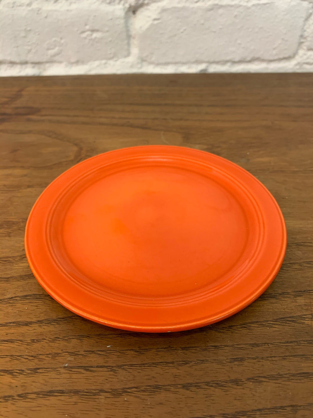 Fire Orange California Ware Plate