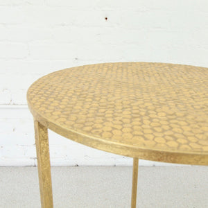 Mingus Hammered End Table