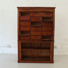 Load image into Gallery viewer, Antique Tambour Library Cart