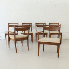 Load image into Gallery viewer, 1969 Era Walnut Set of Six Chairs (choose your own upholstery)