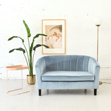 Load image into Gallery viewer, Vienna Powder Blue 1960's Style Sofa