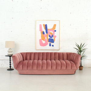 Melody Pleated Sofa in Dusty Rose
