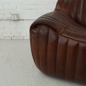 Walter Pleated Leather Sofa