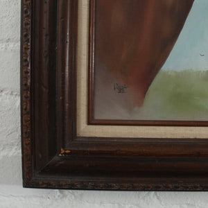 Authentic Oil Painting Framed Horse