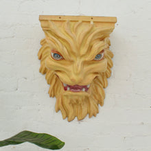 Load image into Gallery viewer, Fiberglass Lion Head Mantles