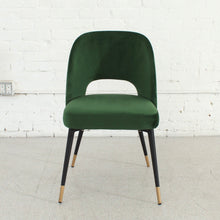 Load image into Gallery viewer, Bethany Eyelet Chair in Emerald