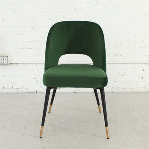 Bethany Eyelet Chair in Emerald