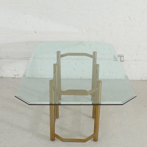 1970's Brass Seven Piece Dining Set