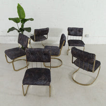 Load image into Gallery viewer, 1970's Brass Seven Piece Dining Set
