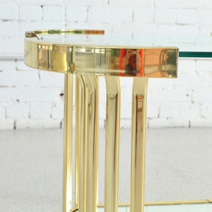 1980's Brass End Table
