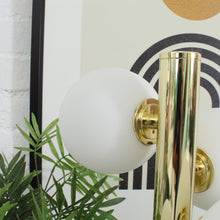 Load image into Gallery viewer, Brass & Marble Globe Lamp