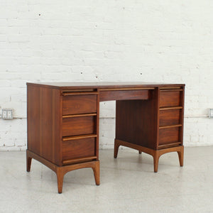 Six Drawer Desk with File Cabinet