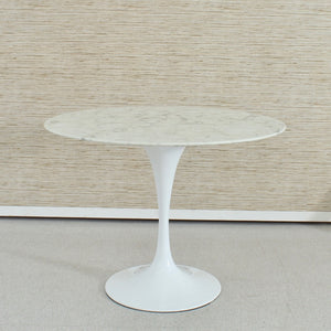 Daisy Faux Marble 40 in Dining Table