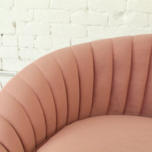 Load image into Gallery viewer, Selena Dusty Rose Pleated Sofa