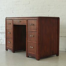 Load image into Gallery viewer, Art Deco Double Pedestal Desk