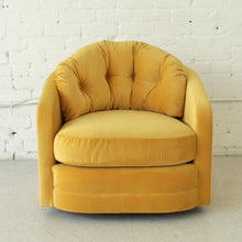 Load image into Gallery viewer, Baughman Era Yellow Swivel Chair
