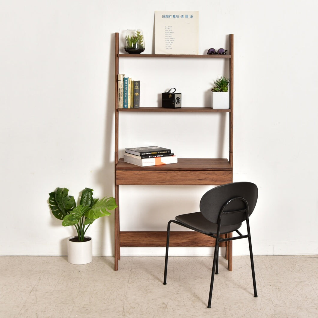 Moonbeam Walnut Shelf Desk