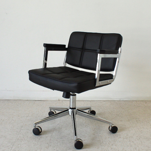 Black Square Panel Office Chair