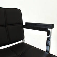 Load image into Gallery viewer, Black Square Panel Office Chair