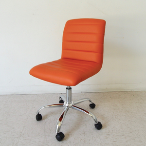 Lucy Orange Armless Office Chair
