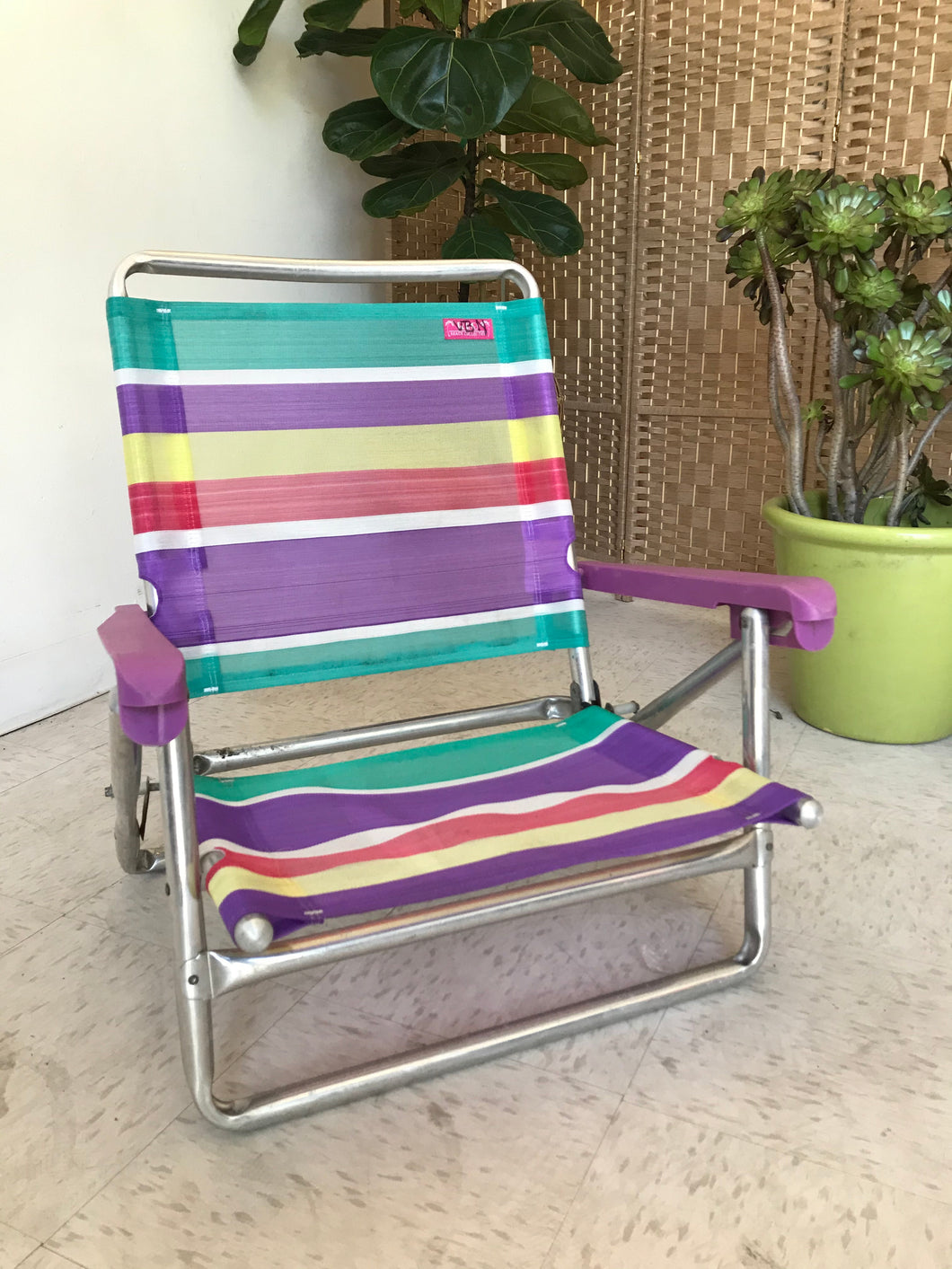 Purple Arm Beach Chair