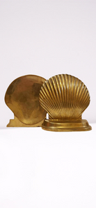 Brass Clam Bookends