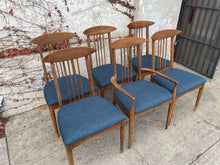 Load image into Gallery viewer, Set of 6 spindle back walnut dining chairs