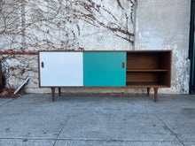 Load image into Gallery viewer, Walnut Aqua & Cream Credenza