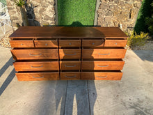 Load image into Gallery viewer, 1960's Solid Walnut Fourteen-Drawer Dresser