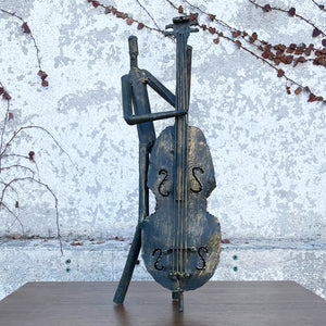 Bass player sculpture