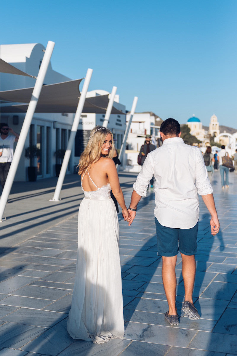 walking through oia