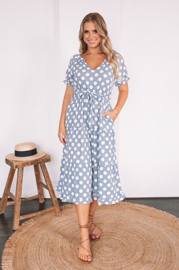 Walker Dress - Blue Spot