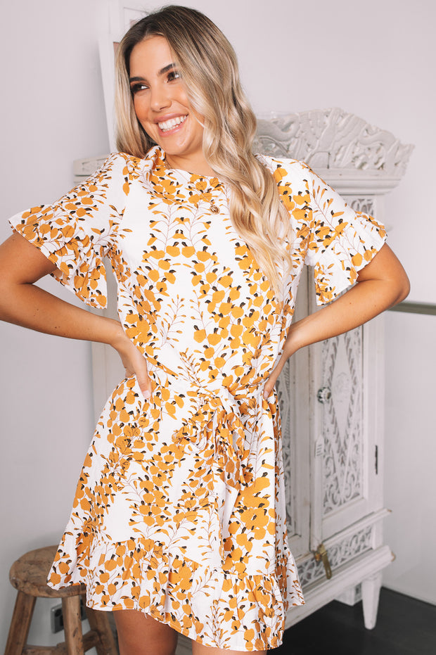 Kala Dress - White Print