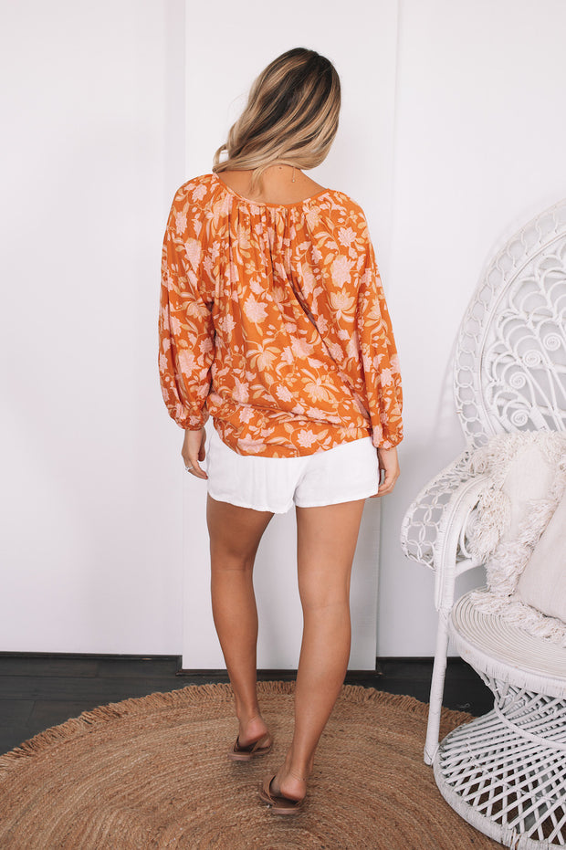 Gemini Top - Rust Print