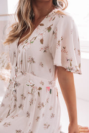 Ranchero Dress - Cream Print