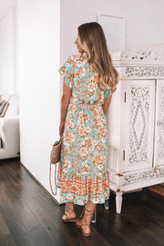 Melody Dress -  Turquoise Print
