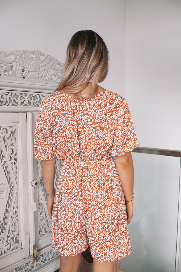 Totti Playsuit - Rust Print