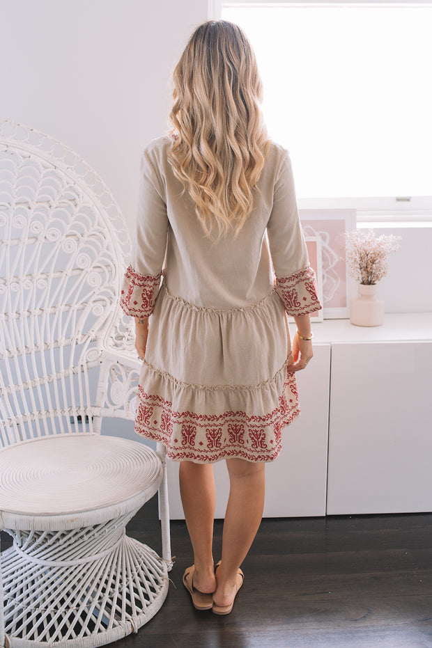 Lara Dress - Beige
