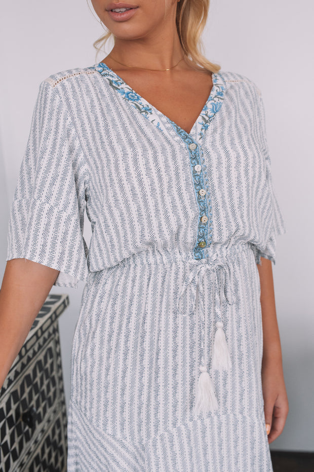 Galiela Dress - Blue Print