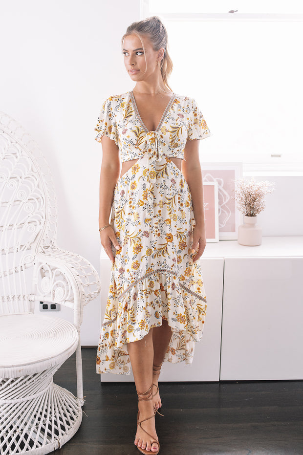 Taylar Dress - Yellow Print