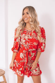 Lorna Dress - Red Print