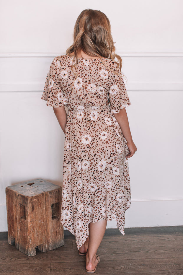 Lionela Dress - Beige Print