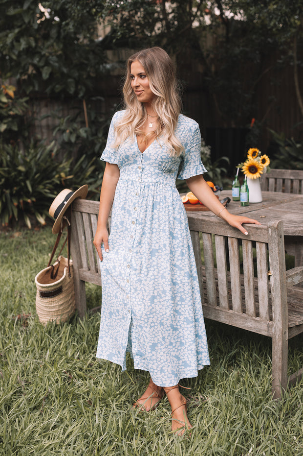 Adah Dress - Blue Print