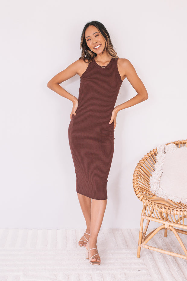 Bernadette Dress - Chocolate