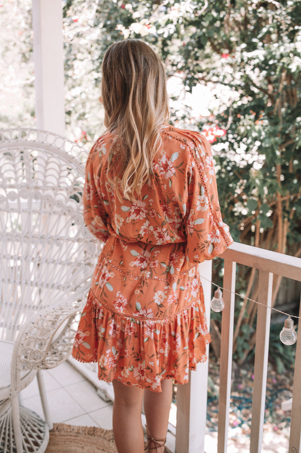 Evie Dress - Orange Print
