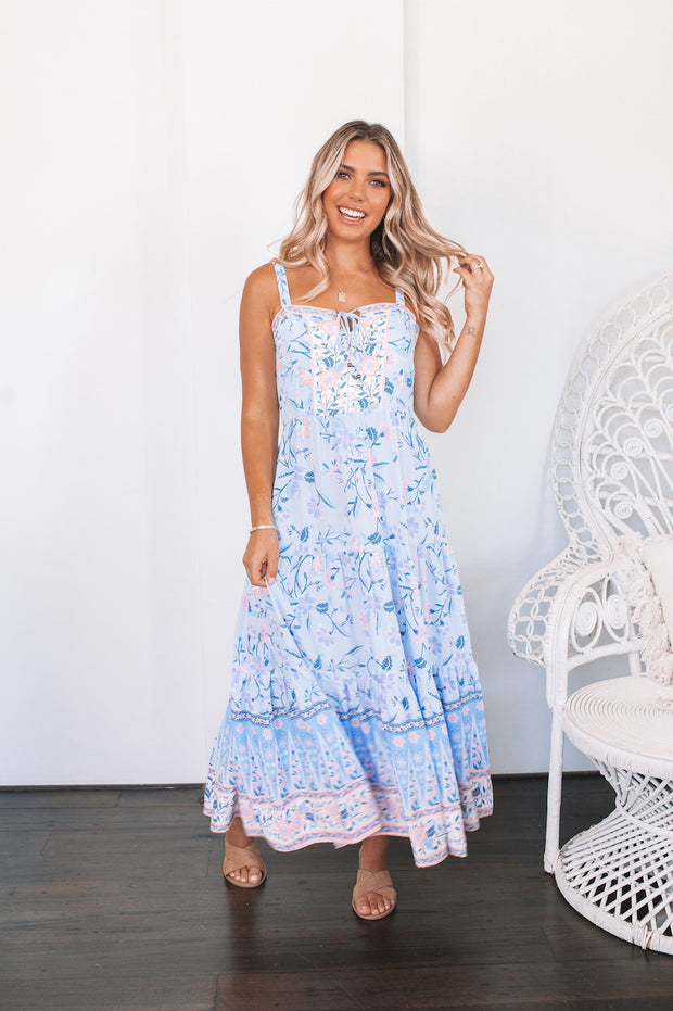 Angelica Dress - Powder Blue