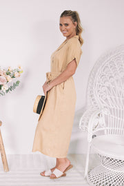 Micarah Dress - Beige